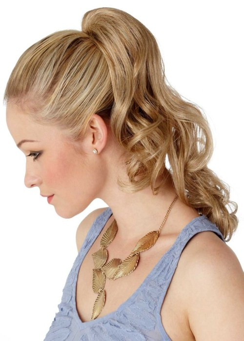 Long Wavy Clip In Ponytail Luxury Womens Hairpieces Uk
