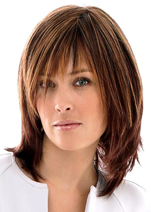 Hairstyles For Short Hair To Your Shoulders : Brown Shoulder Length Wig Luxury Raquel Welch Wig Shop