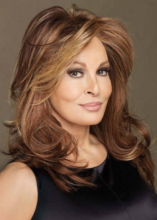 Long Brown Wavy Wig For Women Raquel Welch Ladies Wigs