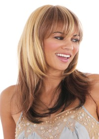 Dark Blonde Highlighted Womens Wig