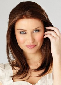 Brown Shoulder Length Wig For Women