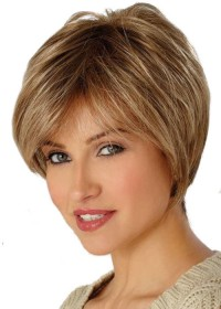 High Quality Short Blonde Ladies Wig