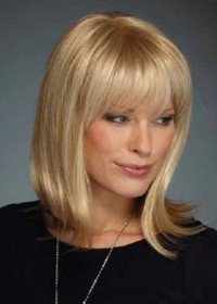 Inspired Blonde Shoulder Length Womens Wig