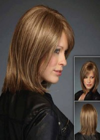 Inspired Brown Shoulder Length Womens Wig