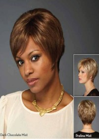 Very Short Brown Inspired Wig For Women