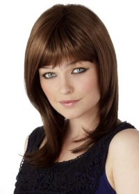 Brown Shoulder Length Ladies Wig