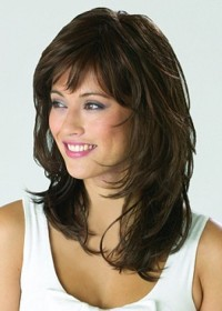 Natural Long Brown Wig For Women