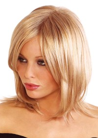 Blonde Shoulder Length Womens Wig