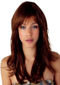 Dark Brown Shoulder Length Wig