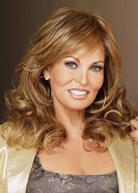 Raquel Welch Long Fringed Wavy Wig