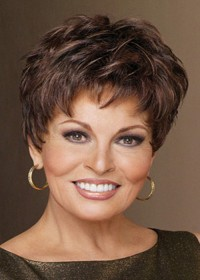 Raquel Welch Short Brown Female Wig