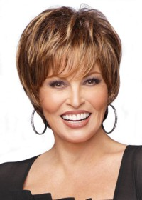 Short Straight Brunette Raquel Welch Wig