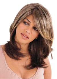 Professional Two Tone Brown and Blonde Wig