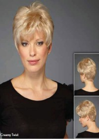 Very Short Blonde Monofilament Wig For Women